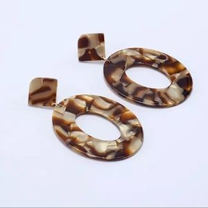 🌟{BOGO}🌟 NEW Leopard Acrylic Oval Earrings